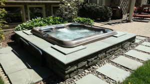 Beautifully Installed Best Hot Tubs' Bullfrog Spa