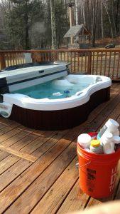 Weekly Hot Tub Service.
